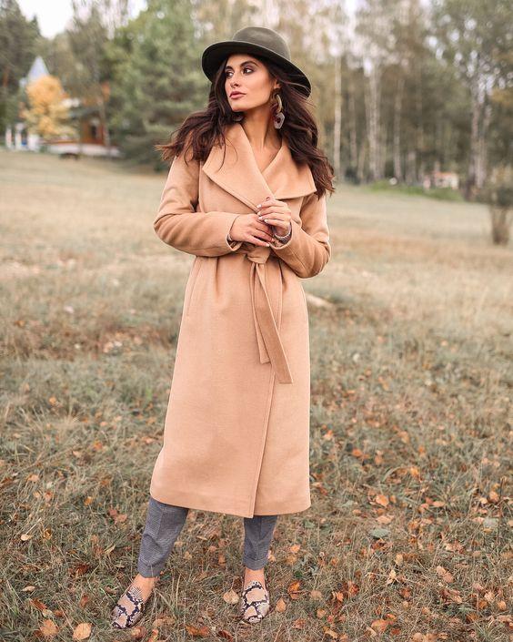 Женское осеннее пальто 2019 фото   коллекция (29 картинок) (13)