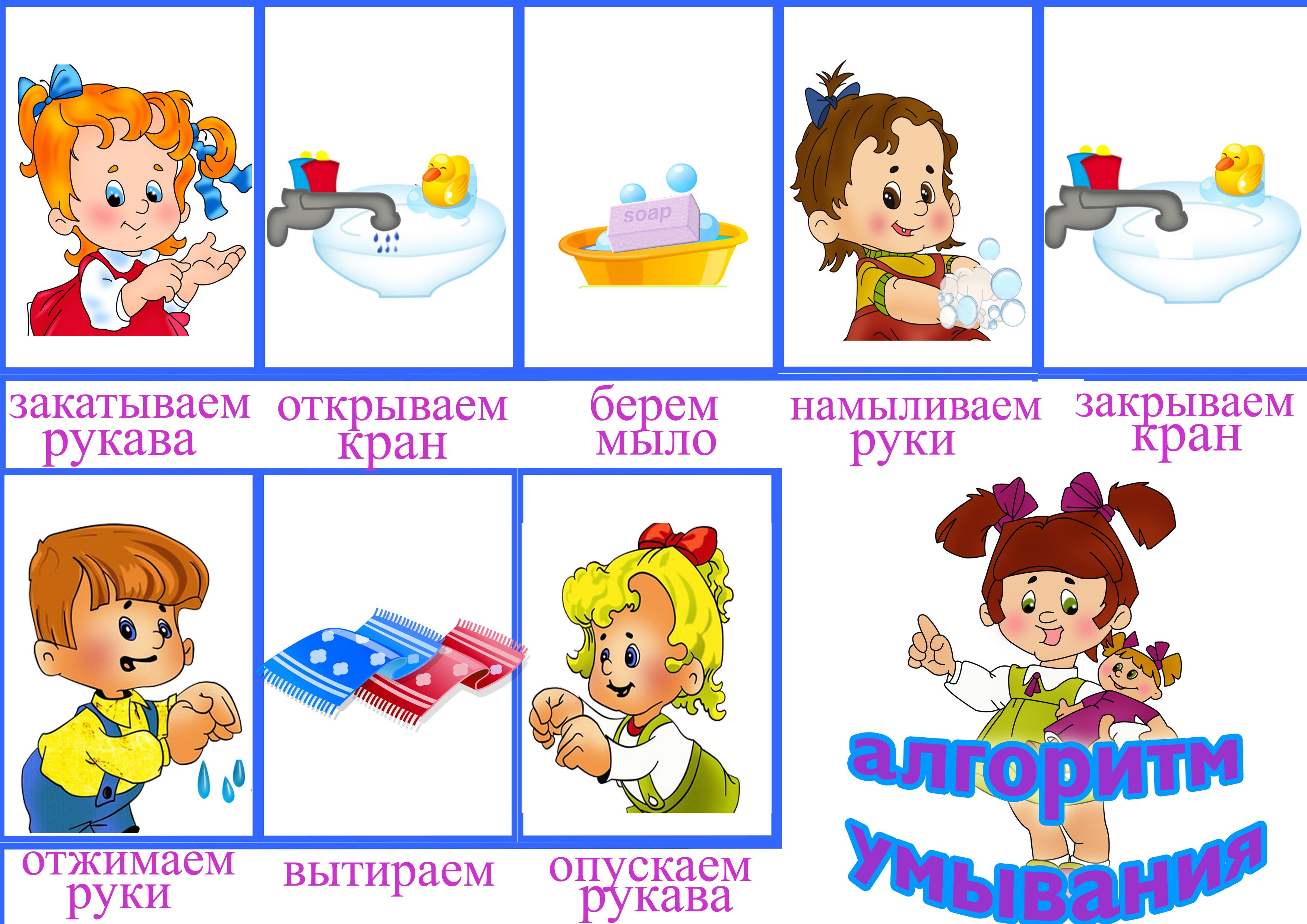 Как мыть руки для детей в картинках   подборка рисунков (10)