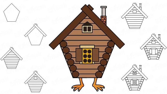 Картинка для детей Избушка на курьих ножках   подборка (1)