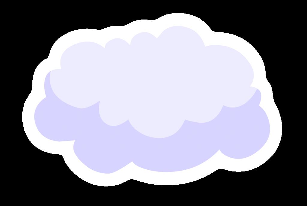 Облако картинки на прозрачном фоне, днем