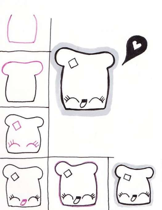 Картинки в личный дневник для срисовки   легкие и простые (3)