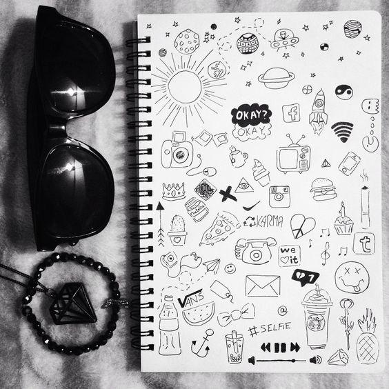 Картинки для срисовки в личный дневник   коллекция (24 штуки) (8)