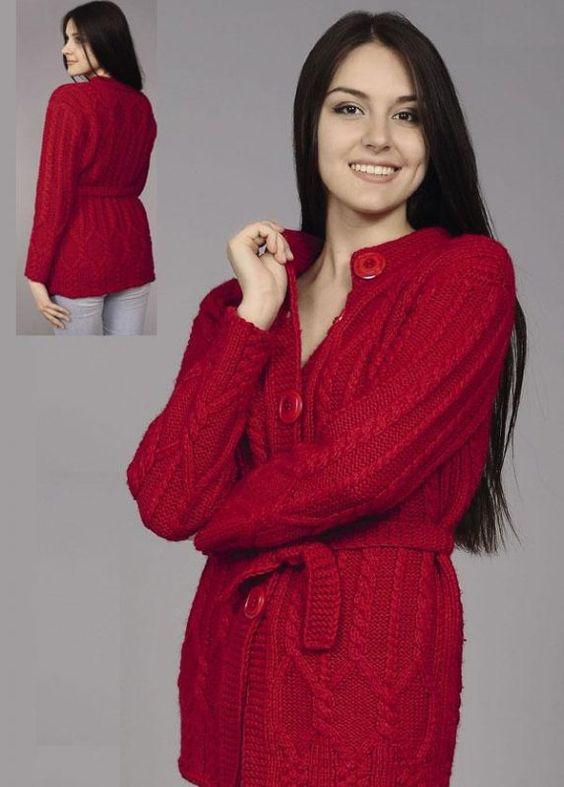 Кофта спицами для женщин   интересные (17 картинок) (15)