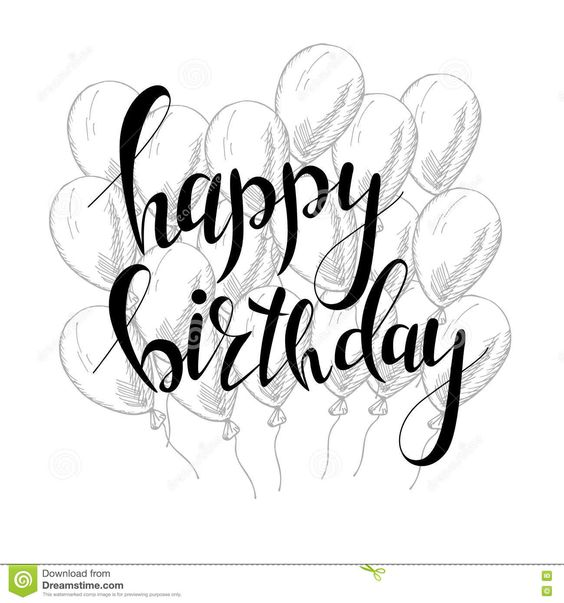 Красивая надпись с днем рождения   добрые открытки (23 фото) (16)