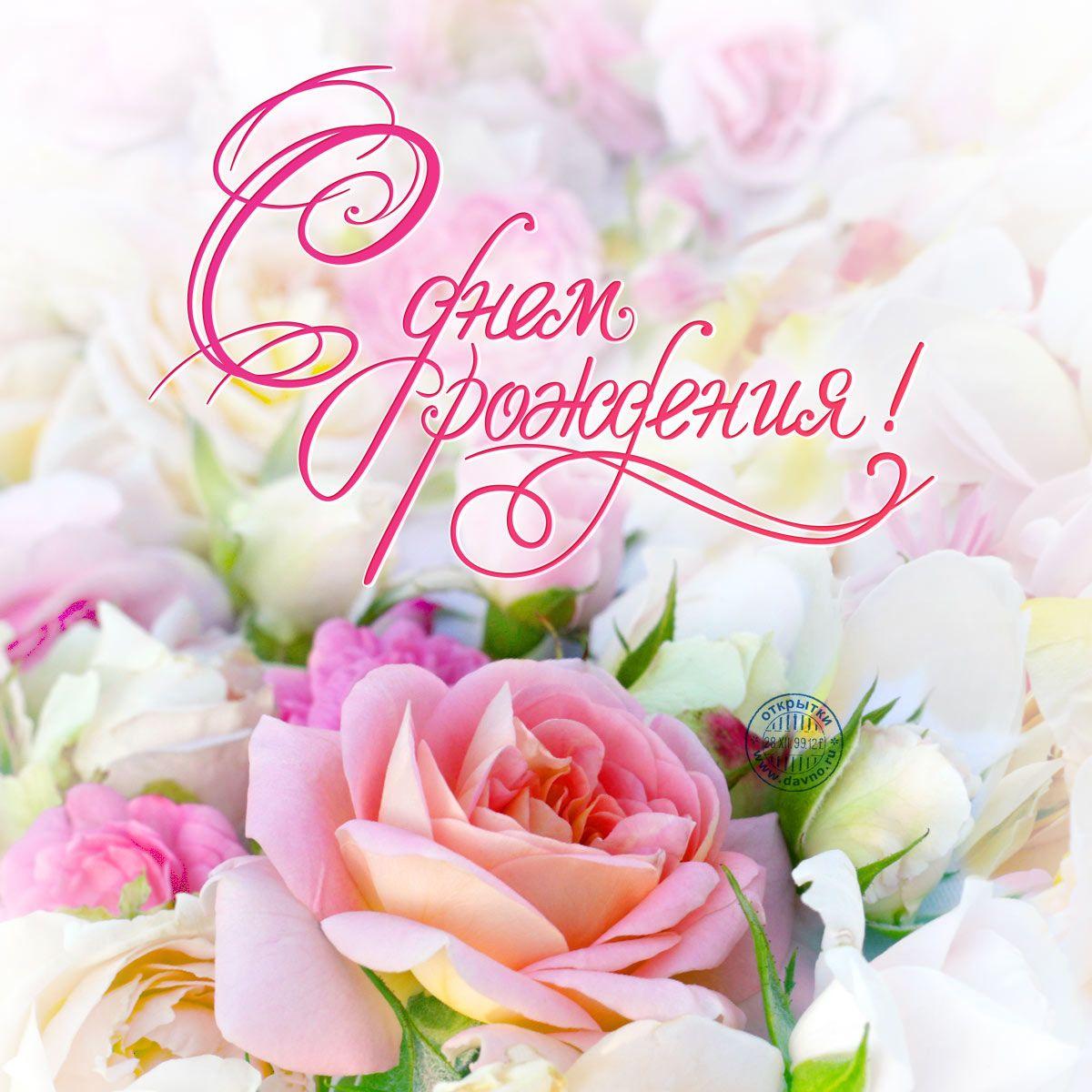 Красивая открытка поздравление с Днем Рождения женщине   подборка (6)