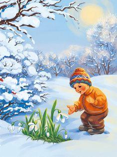 Красивые картинки для садика на тему Весна (13)