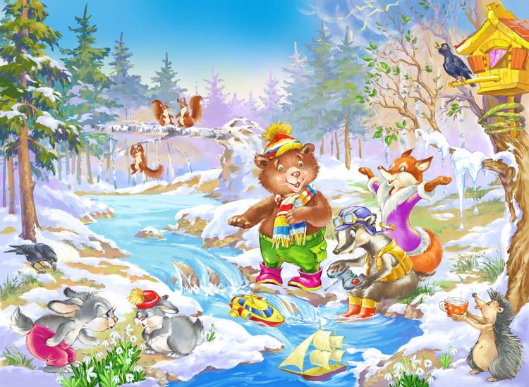 Для, картинки весна в лесу детям