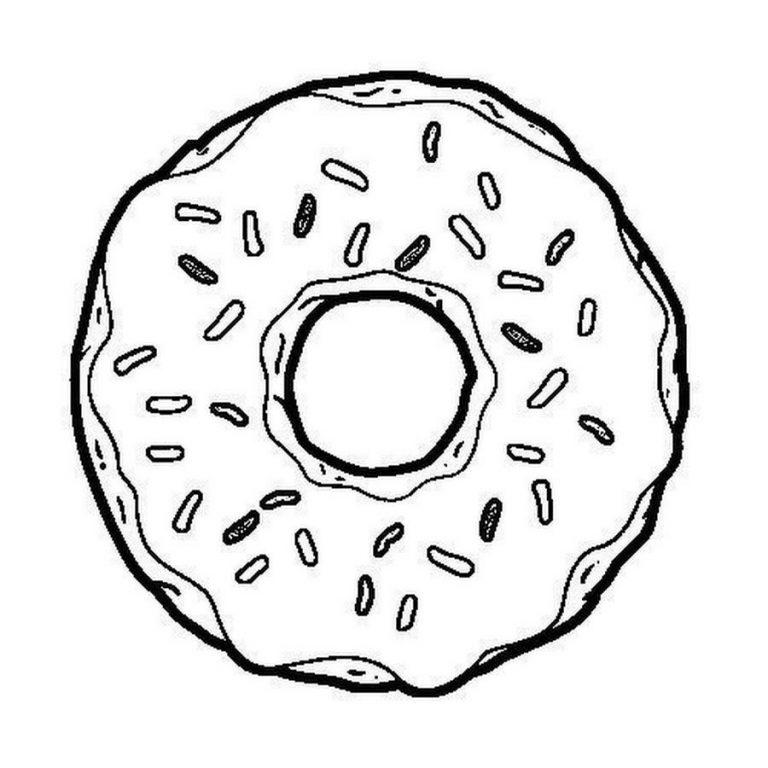 Картинки для лд черно белые для распечатки пончики