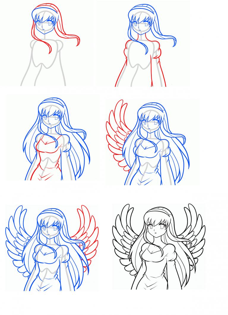 Как рисовать картинки поэтапно для девочек, про любовь надписями