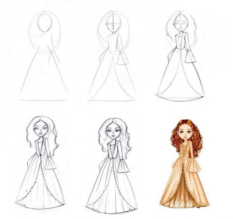 Анимированные, рисовать картинки поэтапно для девочек