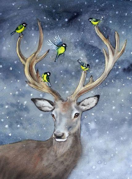 Красивые рисунки и изображения Оленя   подборка 25 картинок (19)