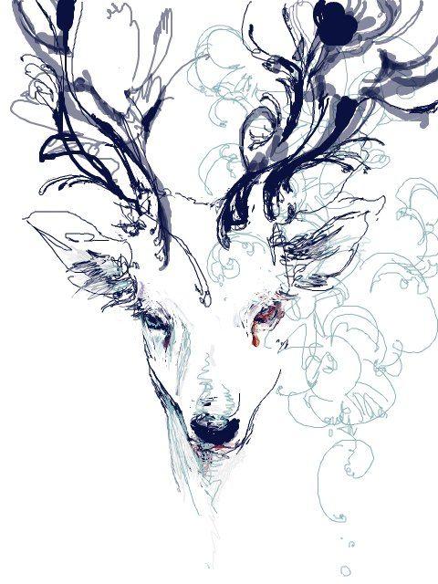 Красивые рисунки и изображения Оленя   подборка 25 картинок (4)