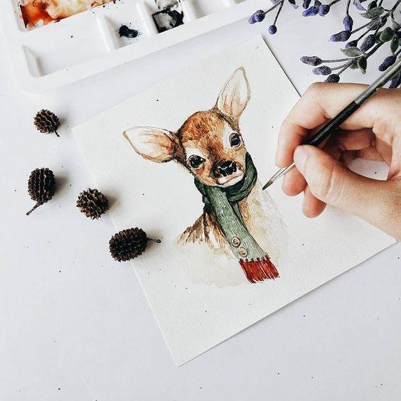 Красивые рисунки и изображения Оленя   подборка 25 картинок (8)