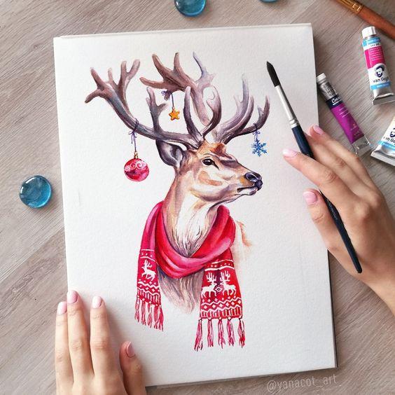 Красивые рисунки и изображения Оленя   подборка 25 картинок (9)