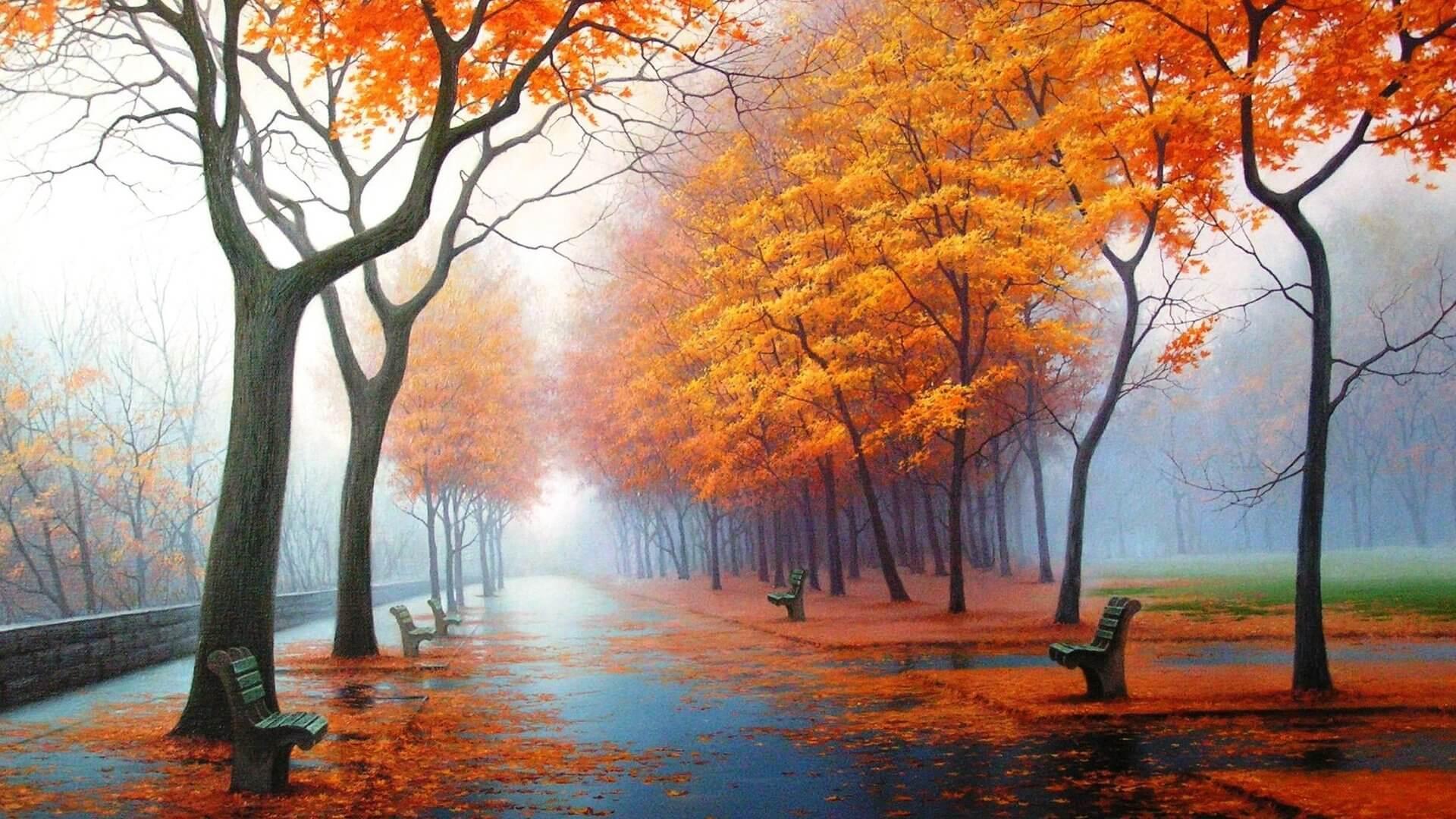 Любовь и осень обои на рабочий стол подборка (1)