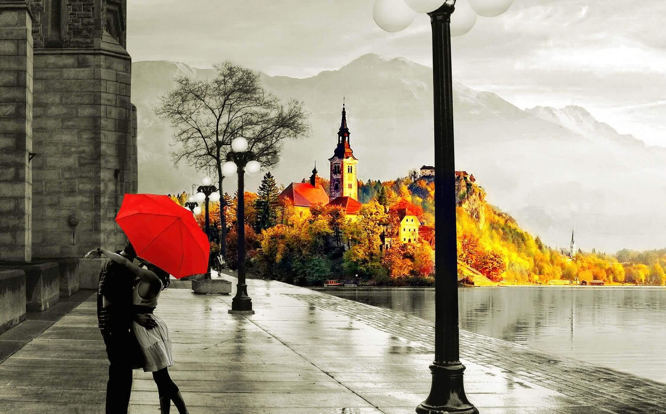 Картинки осень любви, открытки