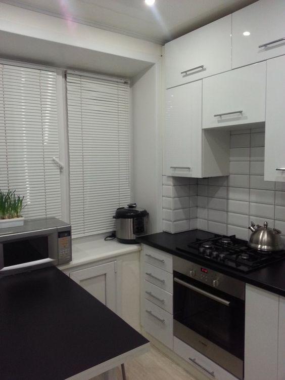 Маленькие кухни дизайн фото 6 кв м подборка (20 штук) (10)