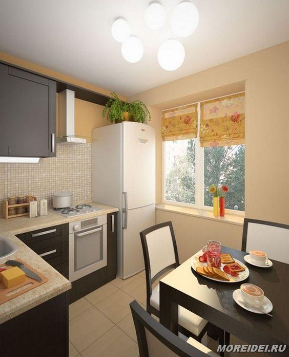 Маленькие кухни дизайн фото 6 кв м подборка (20 штук) (18)