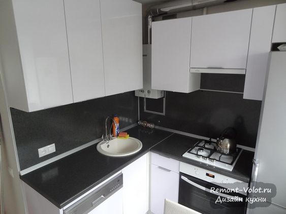 Маленькие кухни дизайн фото 6 кв м подборка (20 штук) (3)