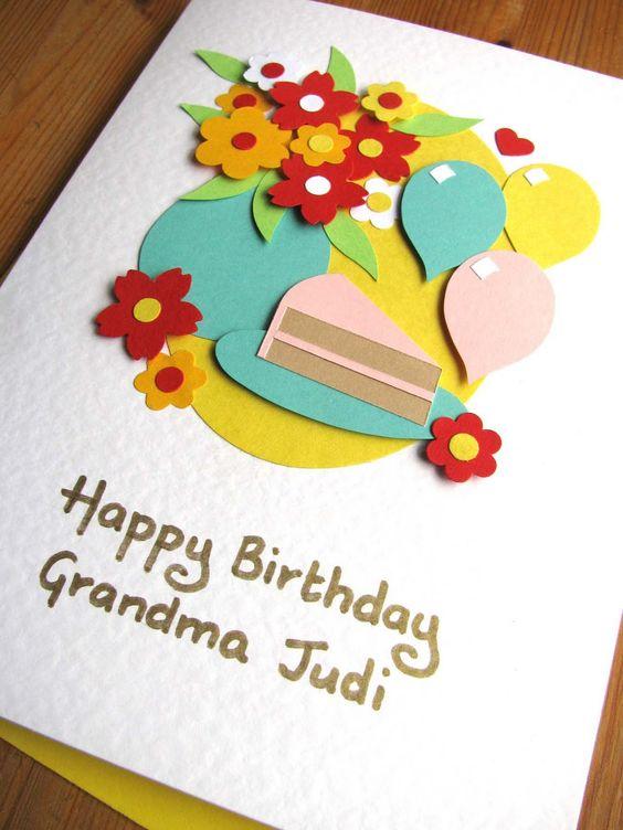 Открытка на день рождения своими руками бабушке   для любимой (19 картинок) (7)