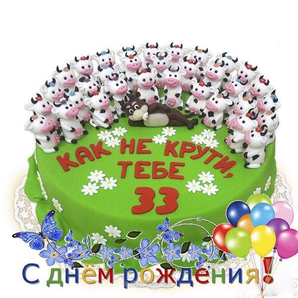 Открытки мужчине с Днем Рождения 33 года лучшая подборка (16)