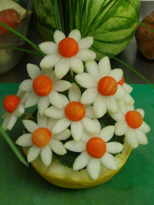 Поделки из овощей и фруктов и цветов   подборка фото (1)