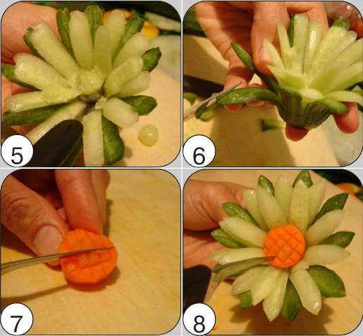 Поделки из овощей и фруктов и цветов   подборка фото (10)