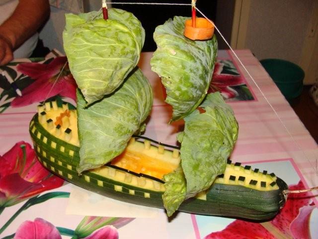 Поделки из овощей и фруктов и цветов   подборка фото (13)