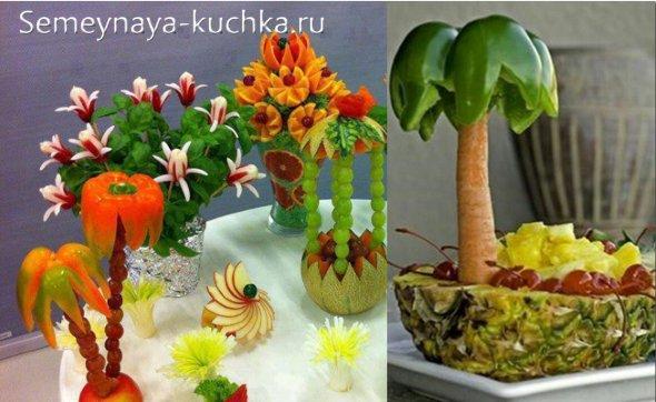 Поделки из овощей и фруктов и цветов   подборка фото (2)