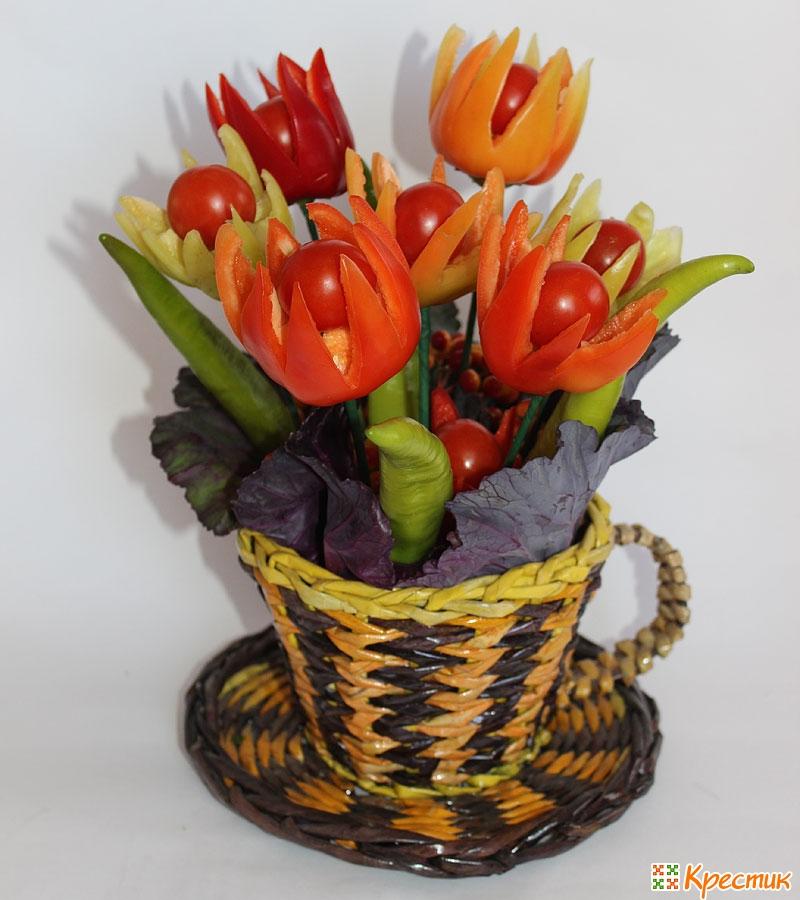 Поделки из овощей и фруктов и цветов   подборка фото (20)