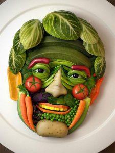 Поделки из овощей и фруктов и цветов   подборка фото (23)