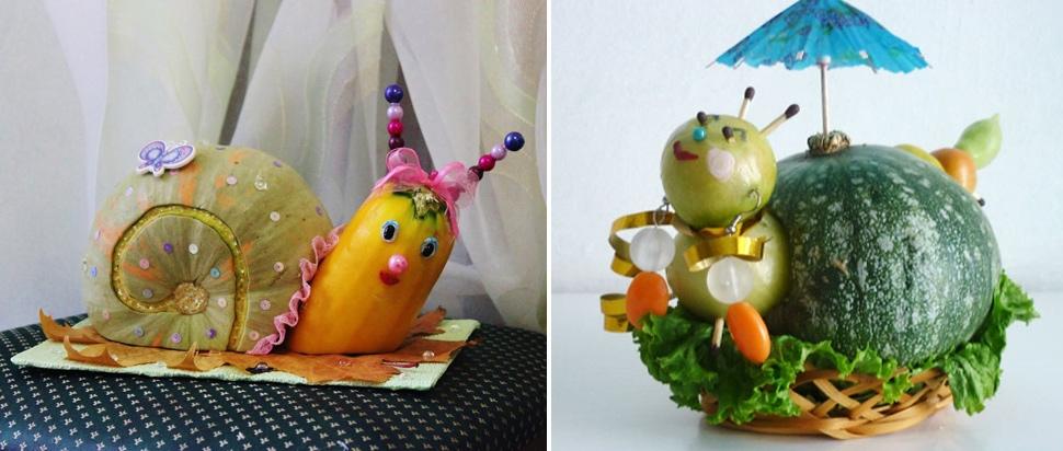 Поделки из овощей и фруктов и цветов   подборка фото (3)