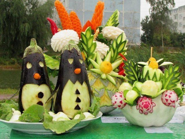 Поделки из овощей и фруктов и цветов   подборка фото (5)