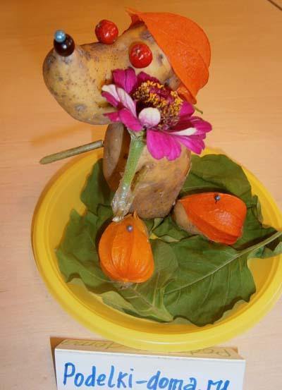 Поделки из овощей и фруктов и цветов   подборка фото (8)
