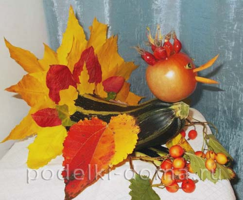 Поделки из овощей и фруктов и цветов   подборка фото (9)