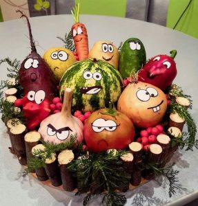 Поделки из овощей своими руками фото на выставку   прикольные (22 картинки) (20)