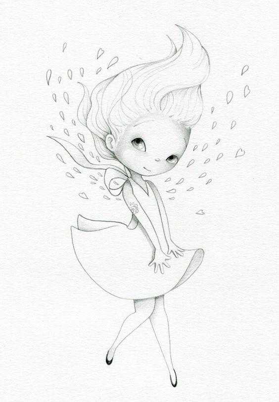 Простые рисунки карандашом для срисовки   милые (20 картинок) (12)