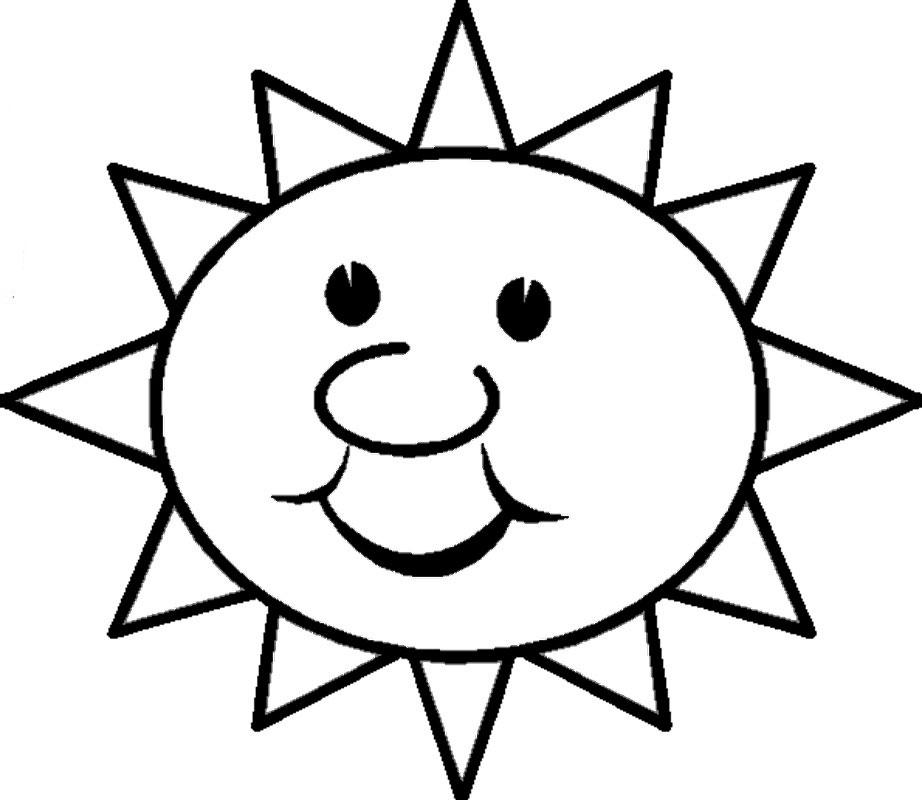 картинка солнышко с улыбкой и лучиками черно белое выходила частного