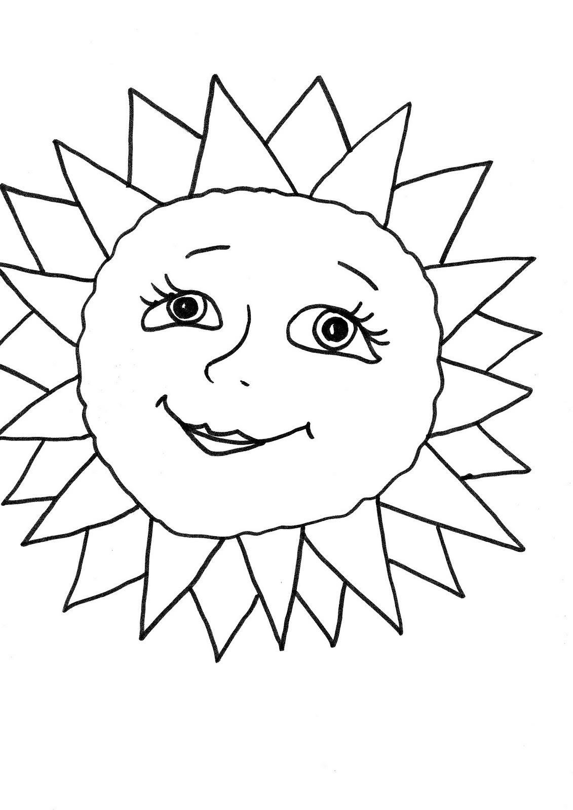 сегодня картинка солнышко с улыбкой и лучиками черно белое сайте