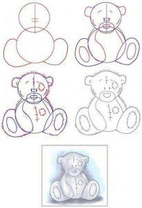 Рисунки для срисовки поэтапно карандашом для начинающих   сборка (27)