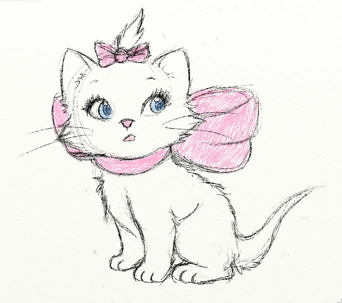Рисунки для срисовки легкие и красивые коты