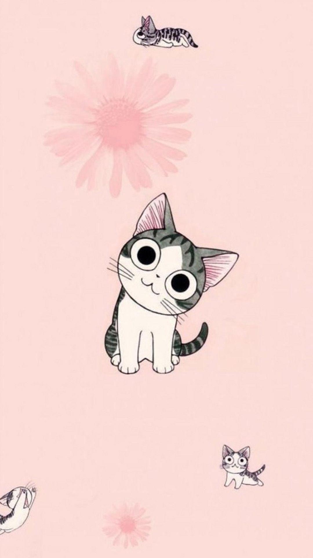 Рождеством, картинки с милыми котиками рисунки
