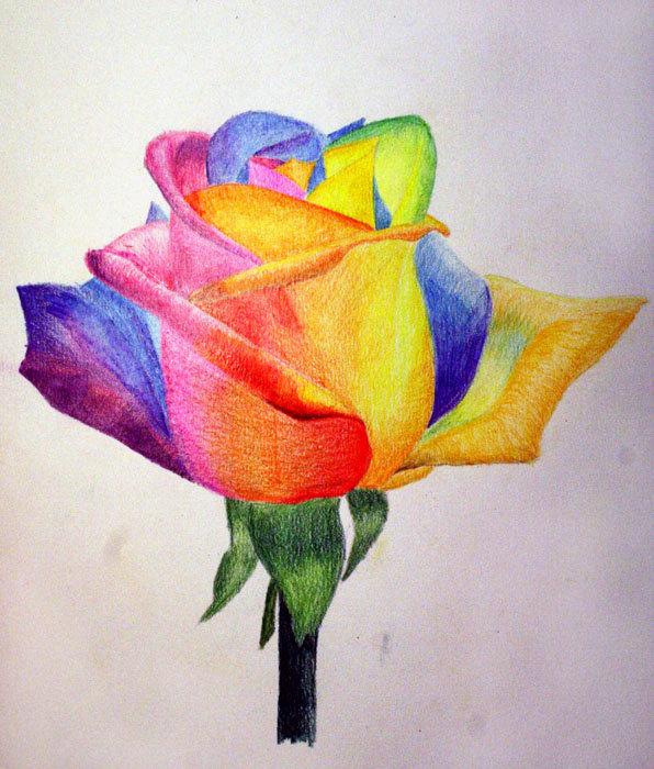 Телефон, картинки цветным карандашом для срисовки