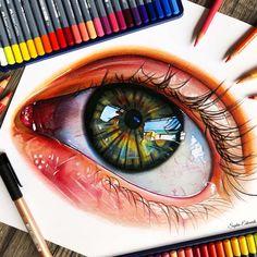 Рисунки цветными карандашами   интересно (25 картинок) (15)