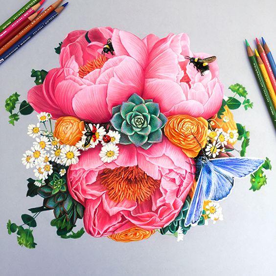 Рисунки цветными карандашами   интересно (25 картинок) (2)