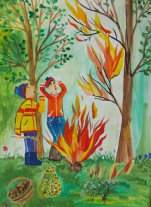 Рисунок на тему Пожарная безопасность 5 класс   подборка (25)