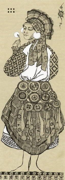 Рисунок русский народный костюм   коллекция фото (18 картинок) (15)