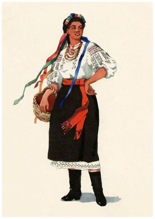 Рисунок русский народный костюм   коллекция фото (18 картинок) (16)
