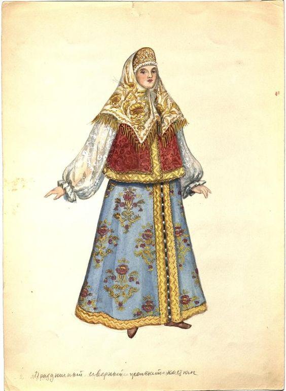 Рисунок русский народный костюм   коллекция фото (18 картинок) (17)