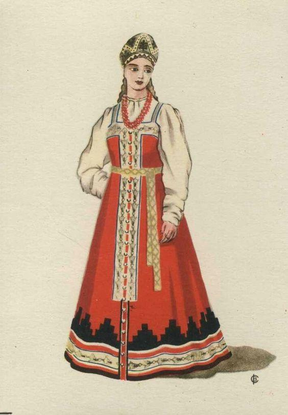 Рисунок русский народный костюм   коллекция фото (18 картинок) (18)